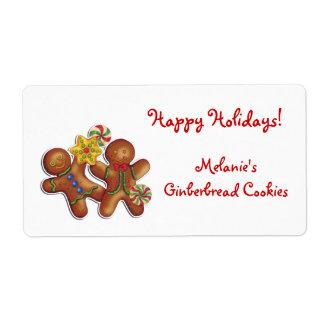 Gingerbread Cookies Label