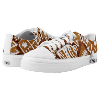 Gingerbread Cookies Low-Top Sneakers