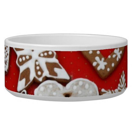 Gingerbread Cookies Pet Bowl