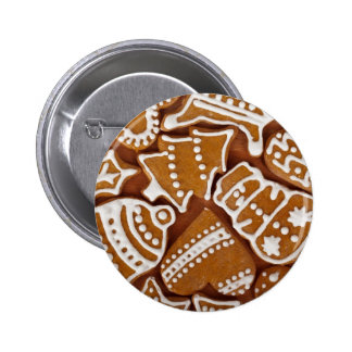 Gingerbread cookies pinback button