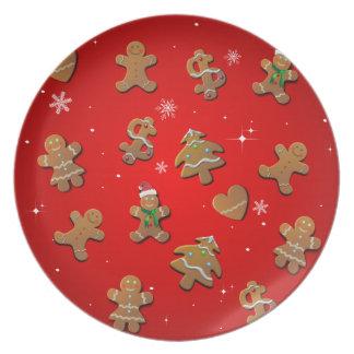 Gingerbread Cookies Dinner Plate