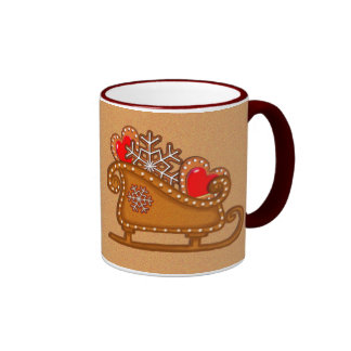 GINGERBREAD COOKIES & SLEIGH by SHARON SHARPE Coffee Mug