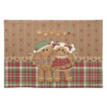 Gingerbread Country Christmas Cloth Placemat