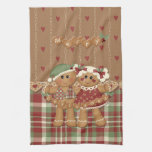 Gingerbread Country Christmas Hand Towel