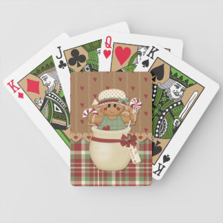 Gingerbread Country Christmas Bicycle Playing Cards
