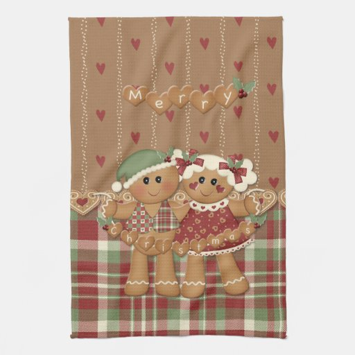 Gingerbread Country Christmas Towels Zazzle