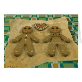 Gingerbread couple cards