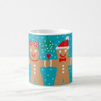 gingerbread couple christmas mug