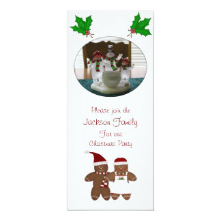 Gingerbread Couple Christmas Party Invitations