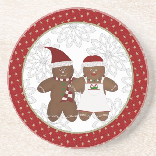 Gingerbread Couple Coasters