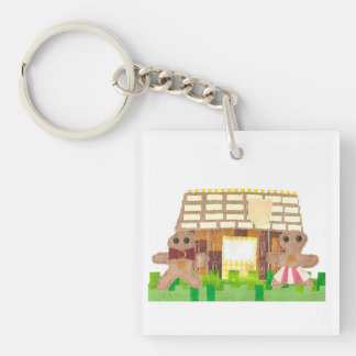 Gingerbread Couple Double Sided Keyring Keychain