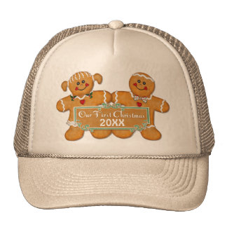 Gingerbread Couple First Christmas Hat