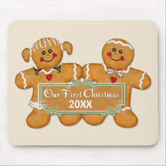 Gingerbread Couple First Christmas Mouse Pad
