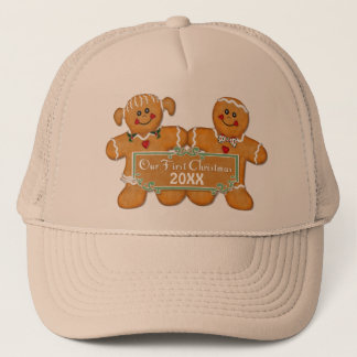 Gingerbread Couple First Christmas Trucker Hat