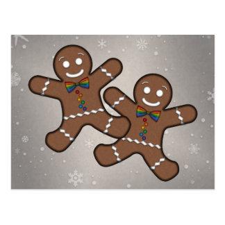 Gingerbread Couple Gay Pride Postcards