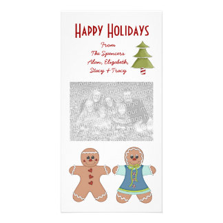 Gingerbread Couple Holiday Photo Cards