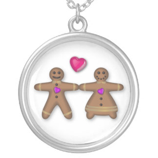 """""""Gingerbread couple in love"""" Necklace"""