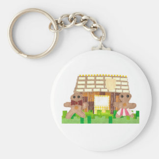 Gingerbread Couple Keyring Keychain