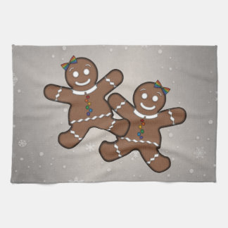 Gingerbread Couple Lesbian Pride Kitchen Towel