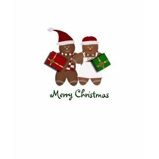 Gingerbread Couple Merry Christmas Tshirt shirt