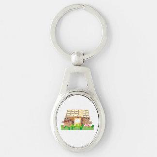Gingerbread Couple Metal Keyring Keychain
