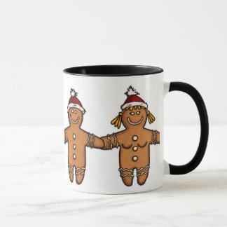 gingerbread couple mug
