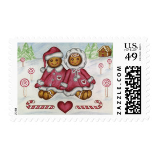 Gingerbread Couple Postage