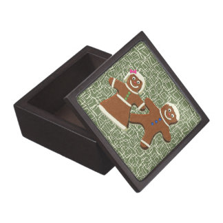 GINGERBREAD COUPLE Trinket Box