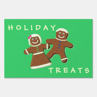 GINGERBREAD COUPLE Yard Sign