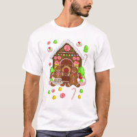 Gingerbread Crazy Men's T Shirt, Christmas T T-Shirt