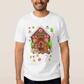 Gingerbread Crazy Men's T Shirt, Christmas T Tees