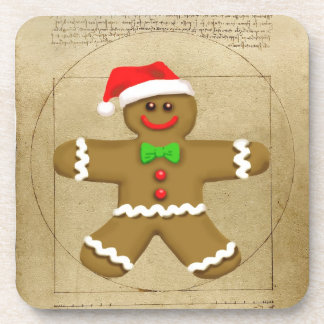 Gingerbread Da Vinci cork coaster set