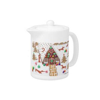 Gingerbread Dachshund Teapot