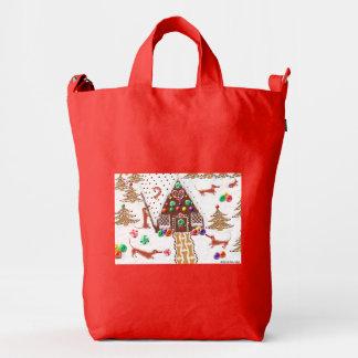 Gingerbread Dachshunds Duck Bag