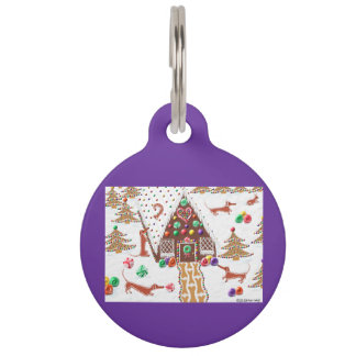 Gingerbread Dachshunds Pet Tag