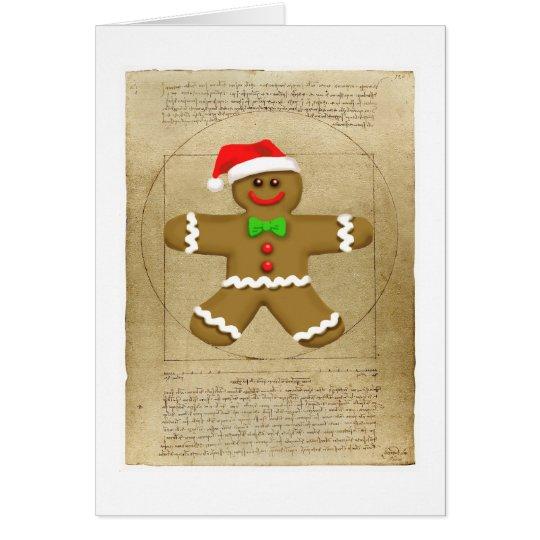 Gingerbread DaVinci greeting card