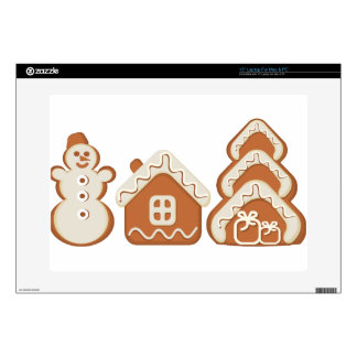 """gingerbread decal for 15"""" laptop"""