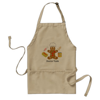 Gingerbread Doctor Tools of the Trade Adult Apron