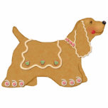 "Gingerbread Dog Ornament<br><div class=""desc"">Delightful Spaniel gingerbread dog has wavy icing and candy accents. A unique and adorable holiday ornament for your Christmas tree or home</div>"