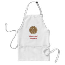Gingerbread Face Design Adult Apron