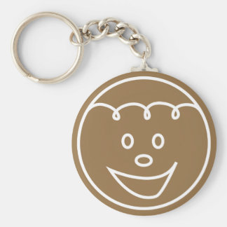 Gingerbread Face Design Keychain