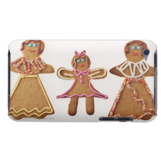 Gingerbread family. Against white background. iPod Touch Case