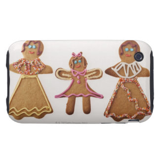 Gingerbread family. Against white background. iPhone 3 Tough Case