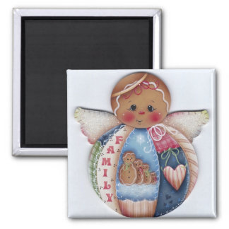 Gingerbread Family Angel Magnet