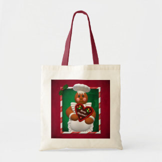 Gingerbread Family: Bakery Girl Canvas Bags