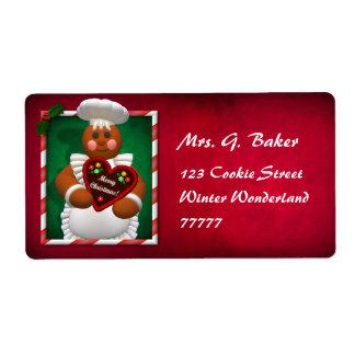 Gingerbread Family: Bakery Girl Label