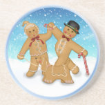 Gingerbread Family Beverage Coasters