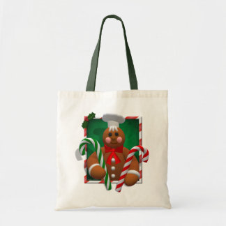 Gingerbread Family: Candy Boy Tote Bags