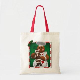Gingerbread Family: Chocolate Girl Tote Bag