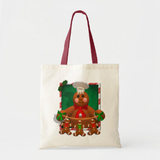 Gingerbread Family: Funny Baker Canvas Bags